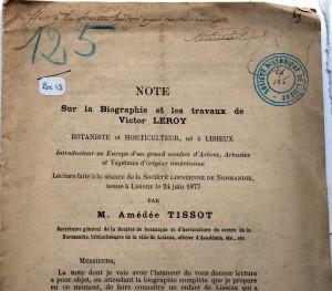 V.Leroy A. Tissot