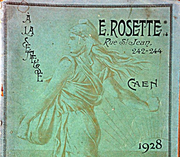 Catalogue Ernest Rosette, Caen